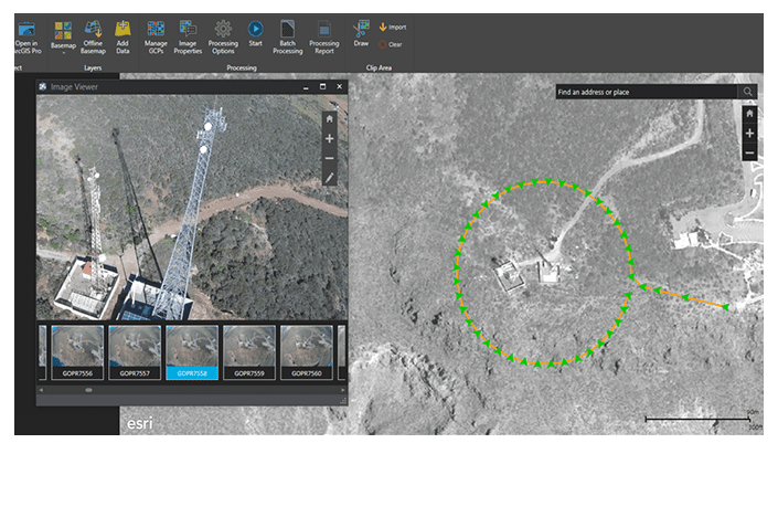 Inspect capabilities by View your assets using Drone2Map