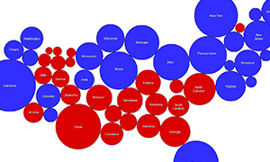 2012 Election Cartogram