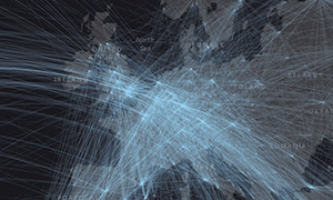 Global Air Traffic as Data Art